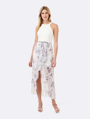 Forever New Lizzie 2 in 1 Maxi Dress - Lilac Floral Print - 4