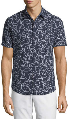 Original Penguin Men's Overlapping-Star Short-Sleeve Sport Shirt