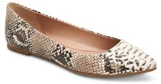 BCBGMAXAZRIA Millie Snake Print Pointed Toe Flat
