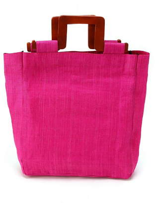 actuel (アクチュエル) - actuel actuel/(W) Abaca Wood Tote インタープラネット バッグ