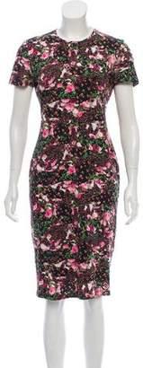 Givenchy Short Sleeve Floral Dress