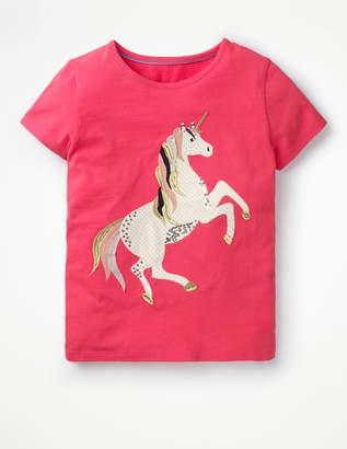 Boden Unicorn Sequin T-shirt