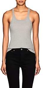 RE/DONE Women's Rib-Knit Cotton Tank - Gray