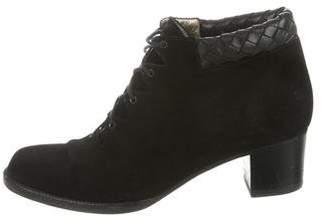 Bottega Veneta Suede Pointed-Toe Ankle Boots