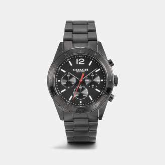 COACH Coach Sullivan Sport Black Ionized Plating Chrono Bracelet Watch $295 thestylecure.com