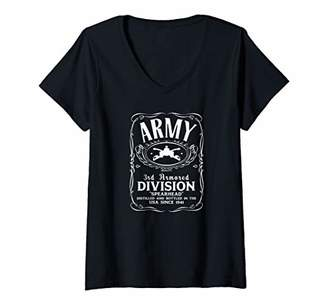 Womens 3rd Armored Division V-Neck T-Shirt