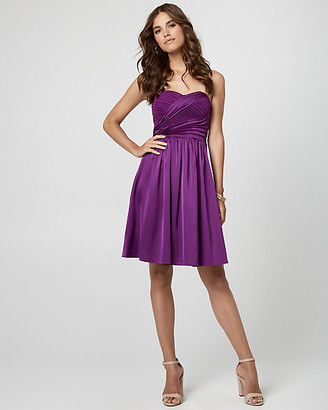 Le Château Stretch Satin Sweetheart Cocktail Dress