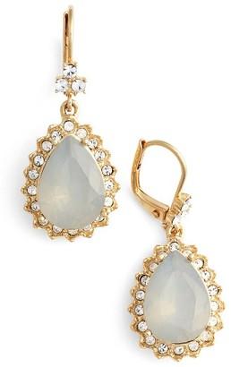 Women's Marchesa Sheer Bliss Pear Drop Earrings $58 thestylecure.com