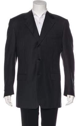 Canali Wool Striped Blazer