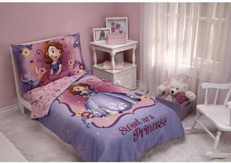 Disney Sweet as a Princess 4 Piece Sofia the First Toddler Bedding Set