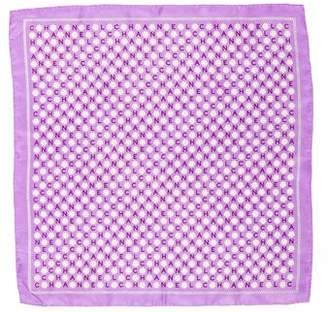 Chanel Silk Camellia Pocket Square