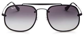 Ray-Ban Brow Bar Square Aviator Sunglasses, 58mm