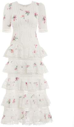 Zimmermann Heathers Pintuck Tiered Dress