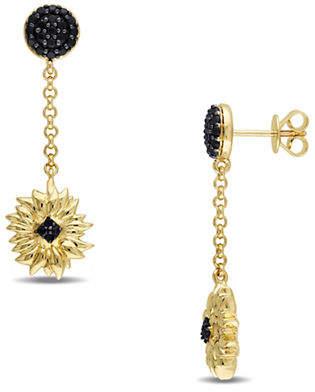 HBC V19.69 ITALIA Black Sapphire Sunflower Drop Earrings