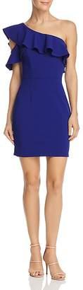 Aqua One-Shoulder Ruffled Dress - 100% Exclusive