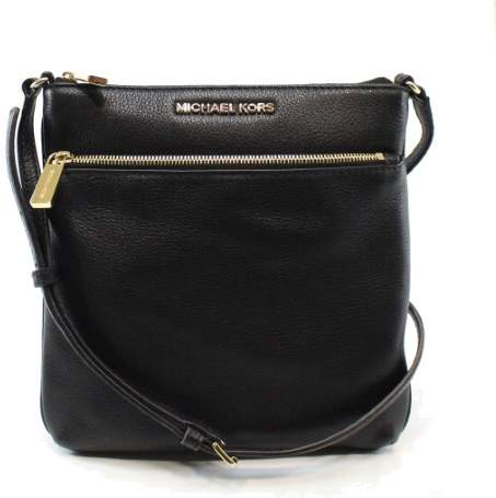 Michael Kors Riley Small Leather Crossbody, Black, Small - BLACK - STYLE