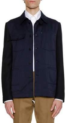 Lanvin Men's Work Wear Knit Jacket