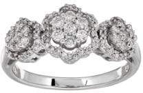 Lord & Taylor 0.50 TCW Diamonds and 14K White Gold Ring