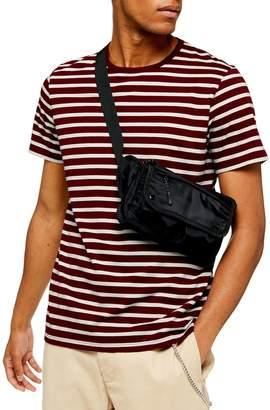 Topman Off Harry Striped Cotton T-Shirt