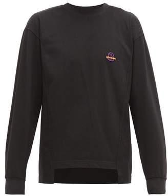 Palm Angels 8 Moncler Logo Plaque Cotton T Shirt - Mens - Black