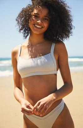La Hearts Gray Zinc Cropped Bikini Top