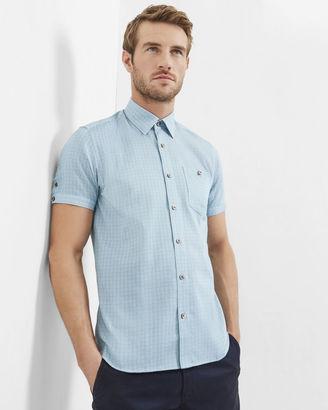 Mini checked cotton shirt $149 thestylecure.com