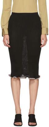 Alexander Wang Black Crystal Stacked Ruffle Skirt