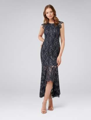Forever New Francesca Fishtail Lace Maxi Dress - Blush - 6