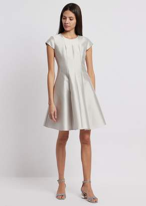 Emporio Armani Silk And Cotton Radzimir Flared Dress