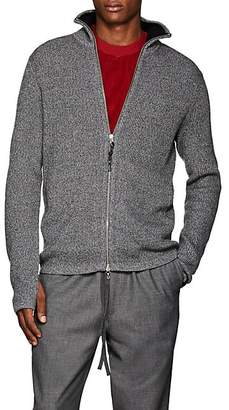 Rag & Bone Men's Andrew Rib-Knit Zip-Front Sweater - Charcoal
