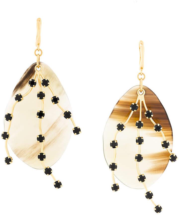 iridescent pendant earrings
