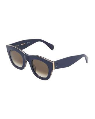 Celine Two-Tone Square Plastic Sunglasses $219 thestylecure.com