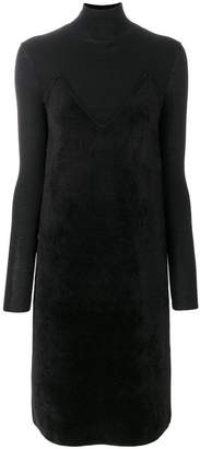 Salvatore Ferragamo Knitted turtleneck dress