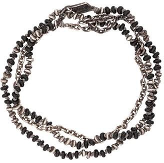 beaded onyx necklace