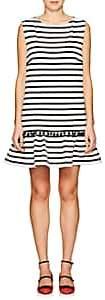 Marc Jacobs WOMEN'S STRIPED COTTON SLEEVELESS SHIFT DRESS-CREAM SIZE M