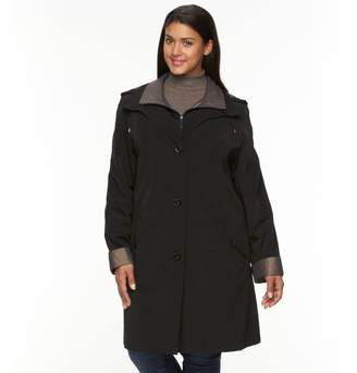 Gallery Plus Size Hooded Lined Rain Jacket
