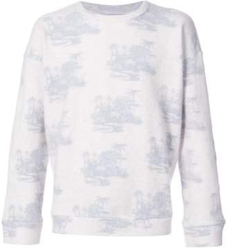 The Elder Statesman Tropics printed sweater