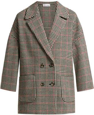 RED Valentino Houndstooth-check wool-blend coat