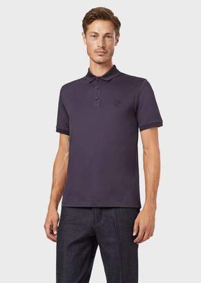 Giorgio Armani Stretch Cotton Micro Pique Polo Shirt