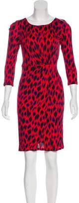 LK Bennett Printed Knee-Length Dress