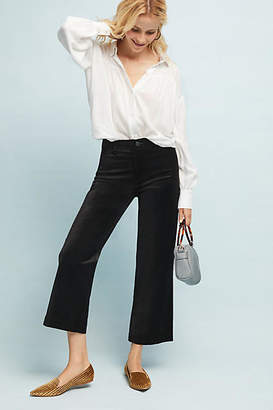 Paige Nellie High-Rise Velvet Culotte Jeans