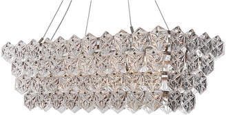 Viz Glass 14-Light Overture Chandelier - Nickel