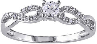 MODERN BRIDE 1/10 CT. T.W. Diamond & Lab-Created White Sapphire Engagement Ring