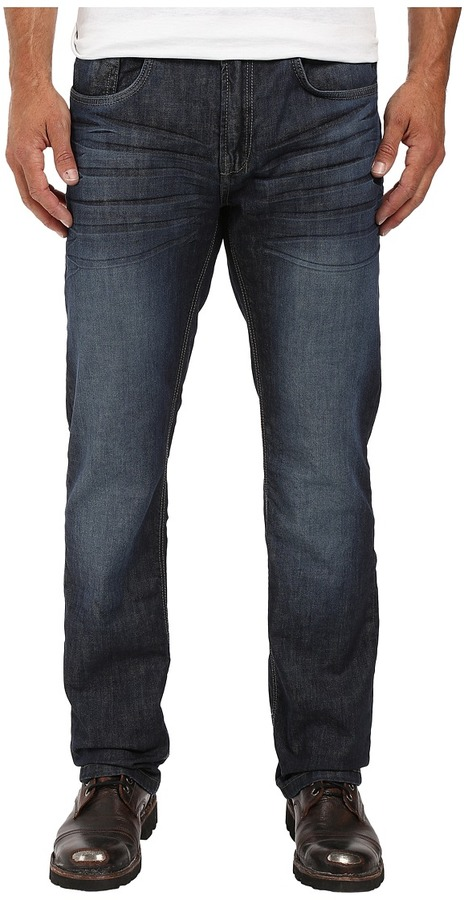 Buffalo David Bitton Buffalo David Bitton Six Slim Straight Leg Jeans in Rigid and Slightly Sanded