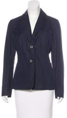 Celine Notch-Lapel Button-Up Blazer