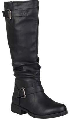 ed78c468d63f Women's Wide Calf Slouchy Buckle Detail Boots