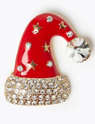 M&S CollectionMarks and Spencer Santa Hat Brooch