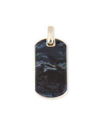 David Yurman Men's Exotic Stone Dog Tag in Pietersite, 35mm