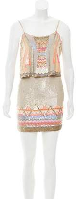 AllSaints Sequin Embellished Mini Dress