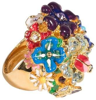 Kenneth Jay Lane Multi-Color Flower Ring